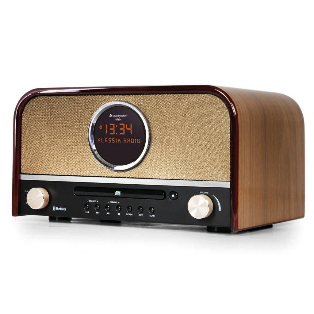 Soundmaster NR850BR NOSTALGIE DAB+ RADIO, CD SPELER, Bluetooth Bruin