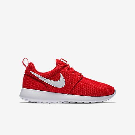 NEW Swarovski Nike Girls / Women Red/White Roshe Nike Roshe