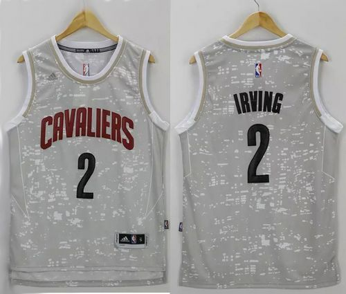 5917bcf08 Cavaliers  2 Kyrie Irving Grey City Light Stitched NBA Jersey