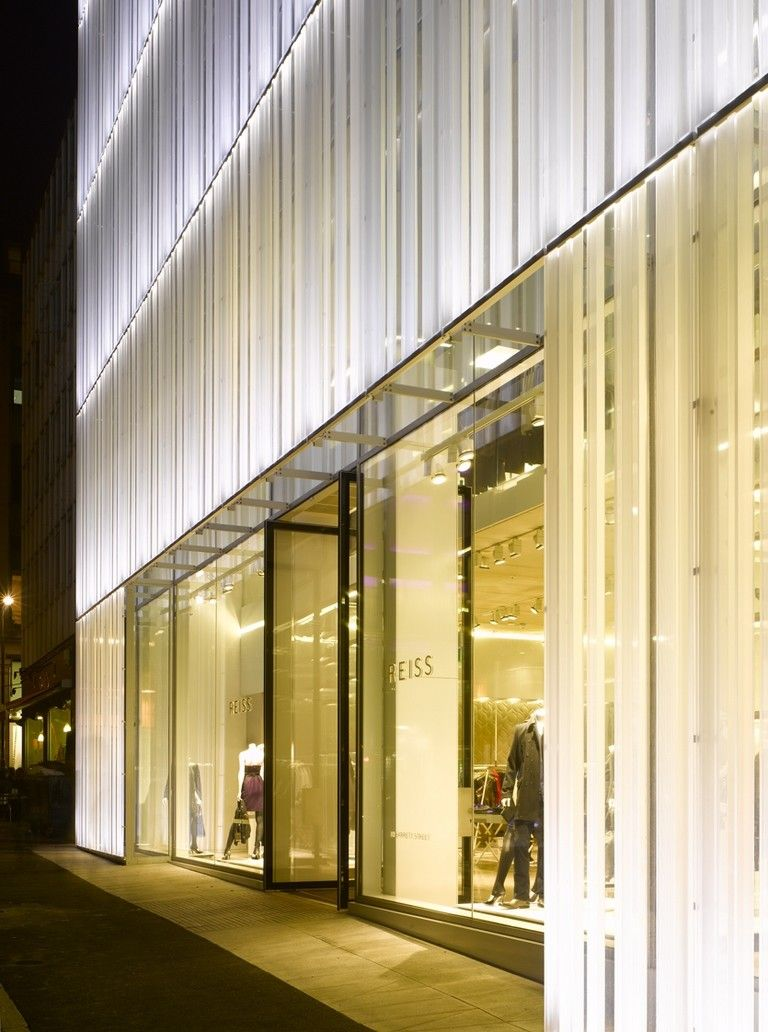 Facade: Reiss Store And Headquarters, Architect Squire And