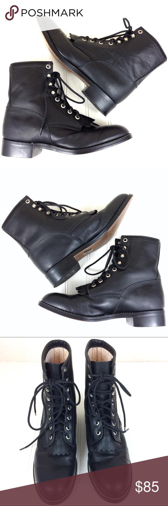 Justin Junior Hiram 506 black leather