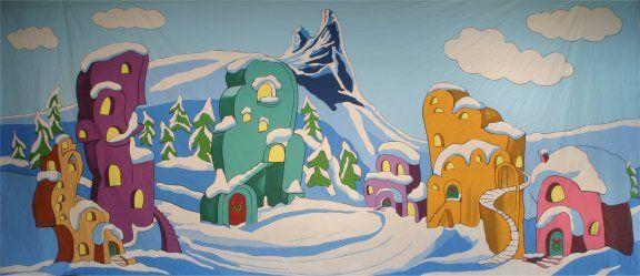 whoville christmas   Whoville Backdrop Rental   Grosh ...