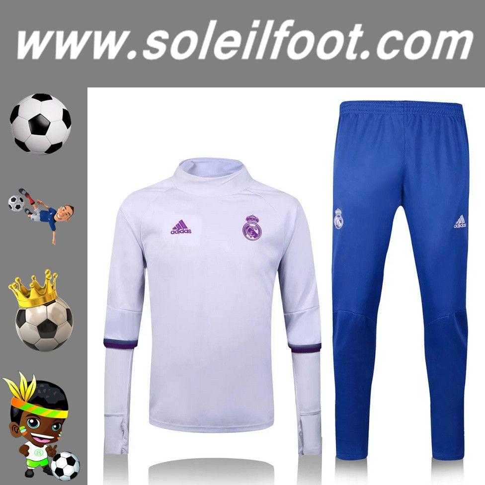 Homme Real Collar De Foot Madrid BlancPantalon KitsSurvetement QrCshtxd