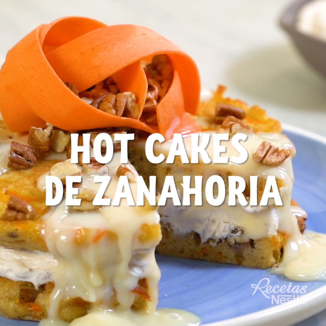 Hot cakes de zanahoria