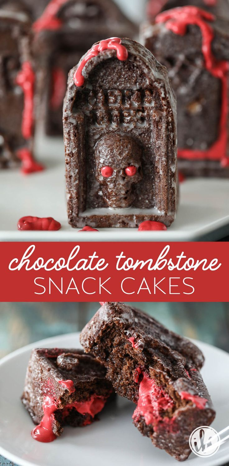 Chocolate tombstone snack cakes the perfect haunted