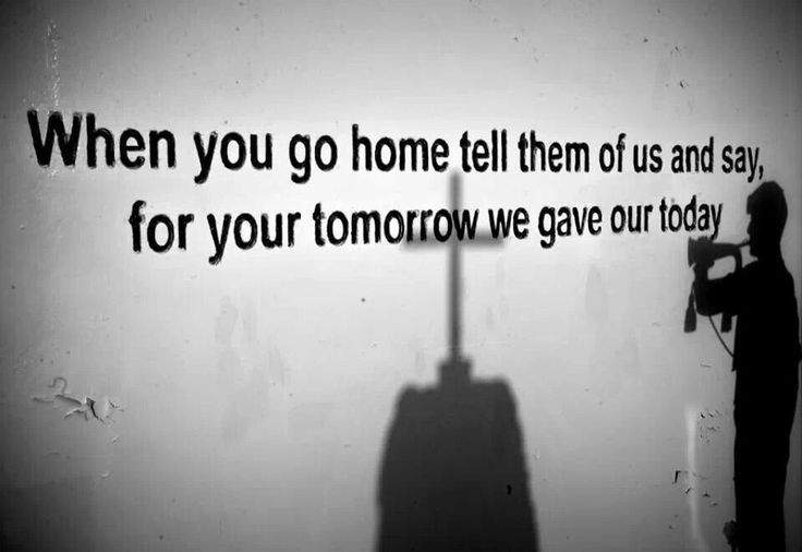 For your tomorrow we gave our today