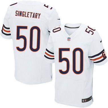 00b8c0d20b9 Chicago Bears  50 Mike Singletary White Retired Player NFL Nike Elite Jersey