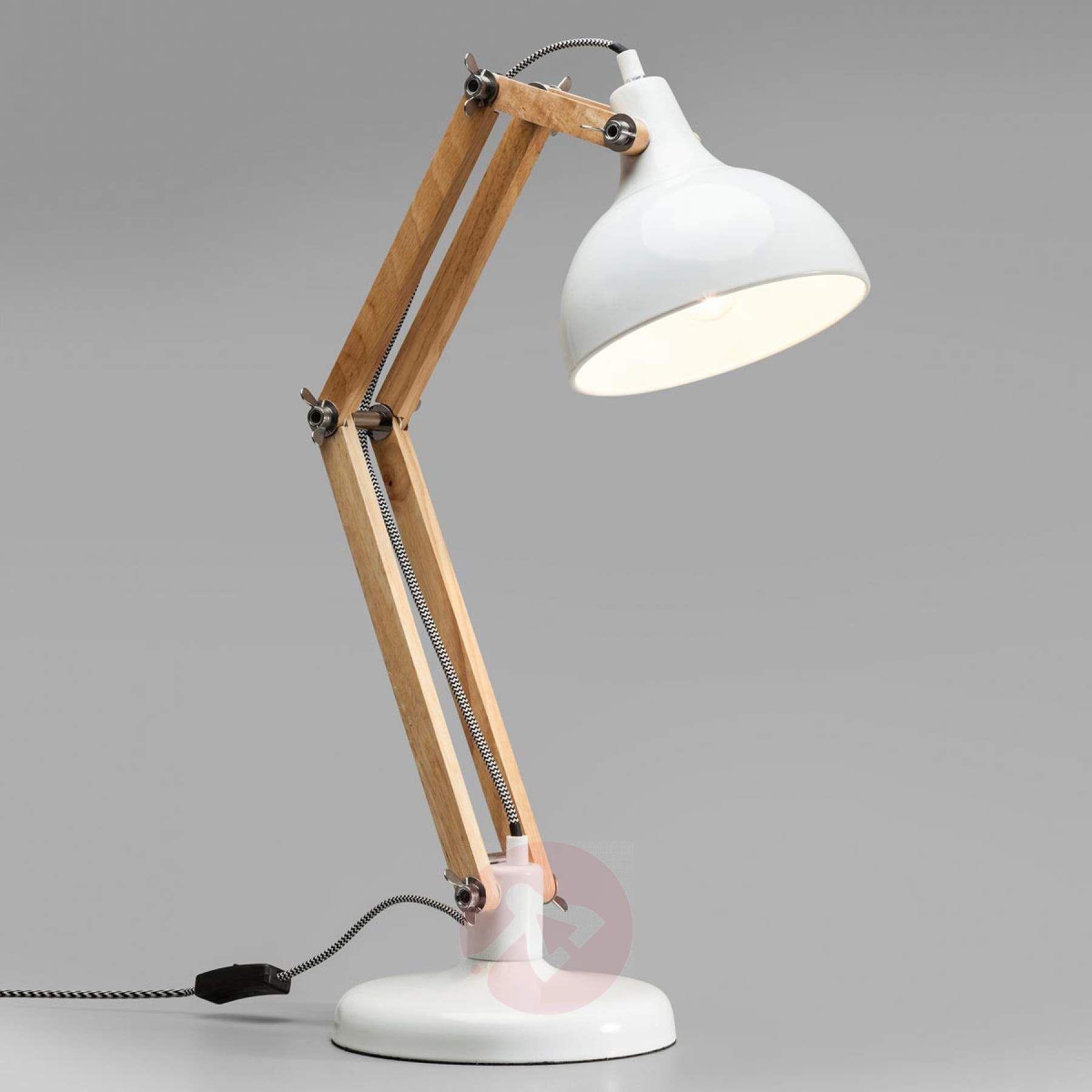 Affiliatelink Kare Work Station Weisse Schreibtischlampe Mit Holz