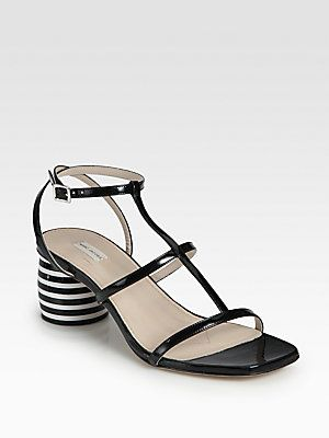 41b725019bb Marc Jacobs Patent Leather Striped Heel Sandals. Sold out everywhere ...