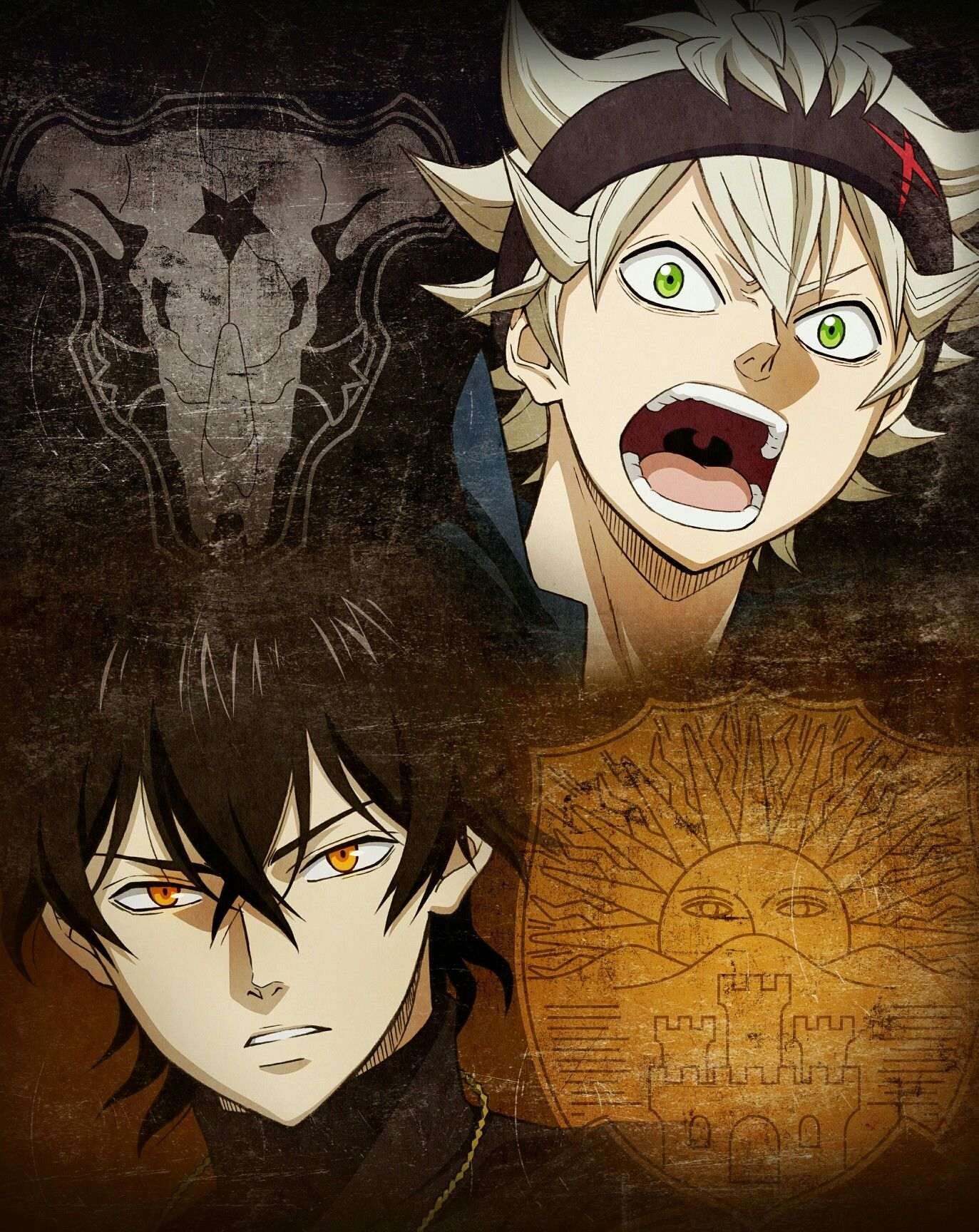 Asta e Yuno Black Clover black clover Animes manga