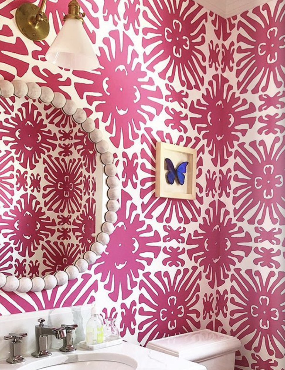 Love this pink Sigourney Wallpaper Razzle Dazzle 2470-16wp.