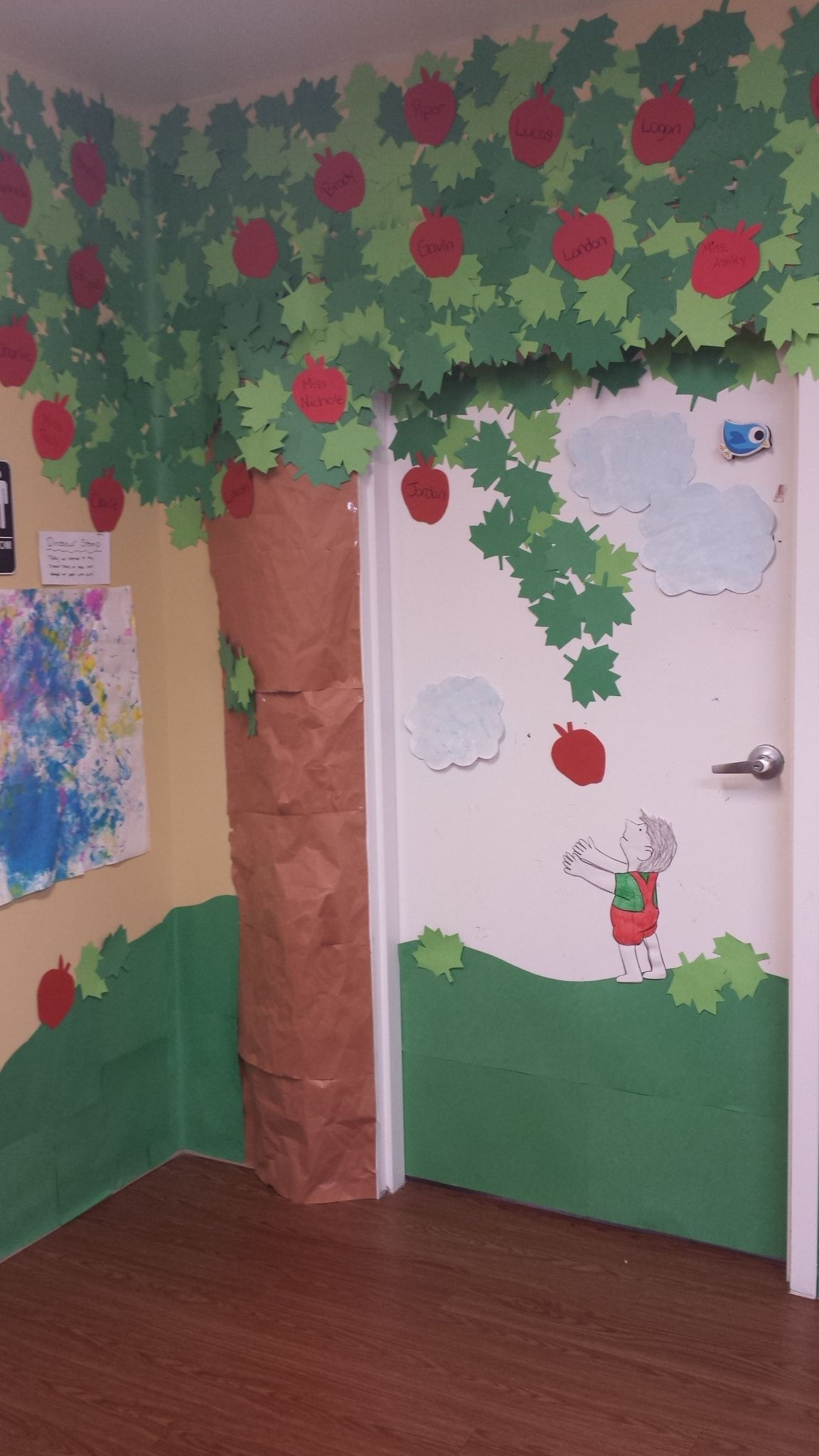 The Giving Tree Classroom Door Idea