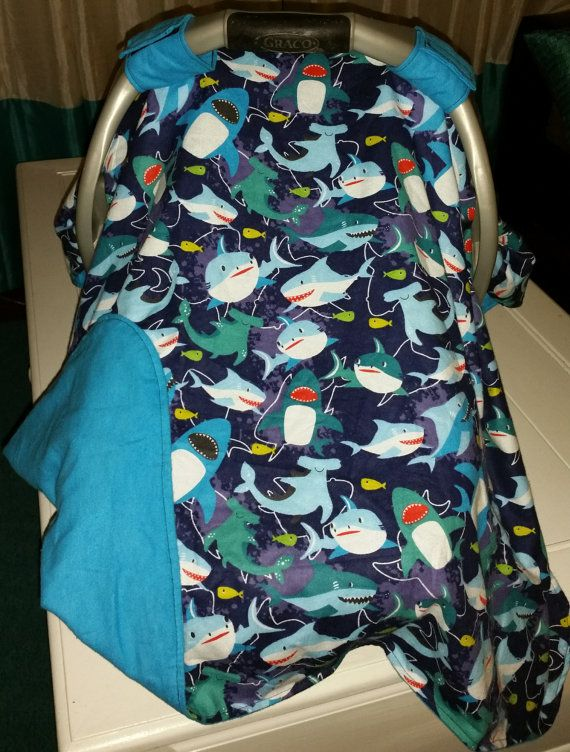 Shark car seat canopy car seat cover infant boy by flashybaby