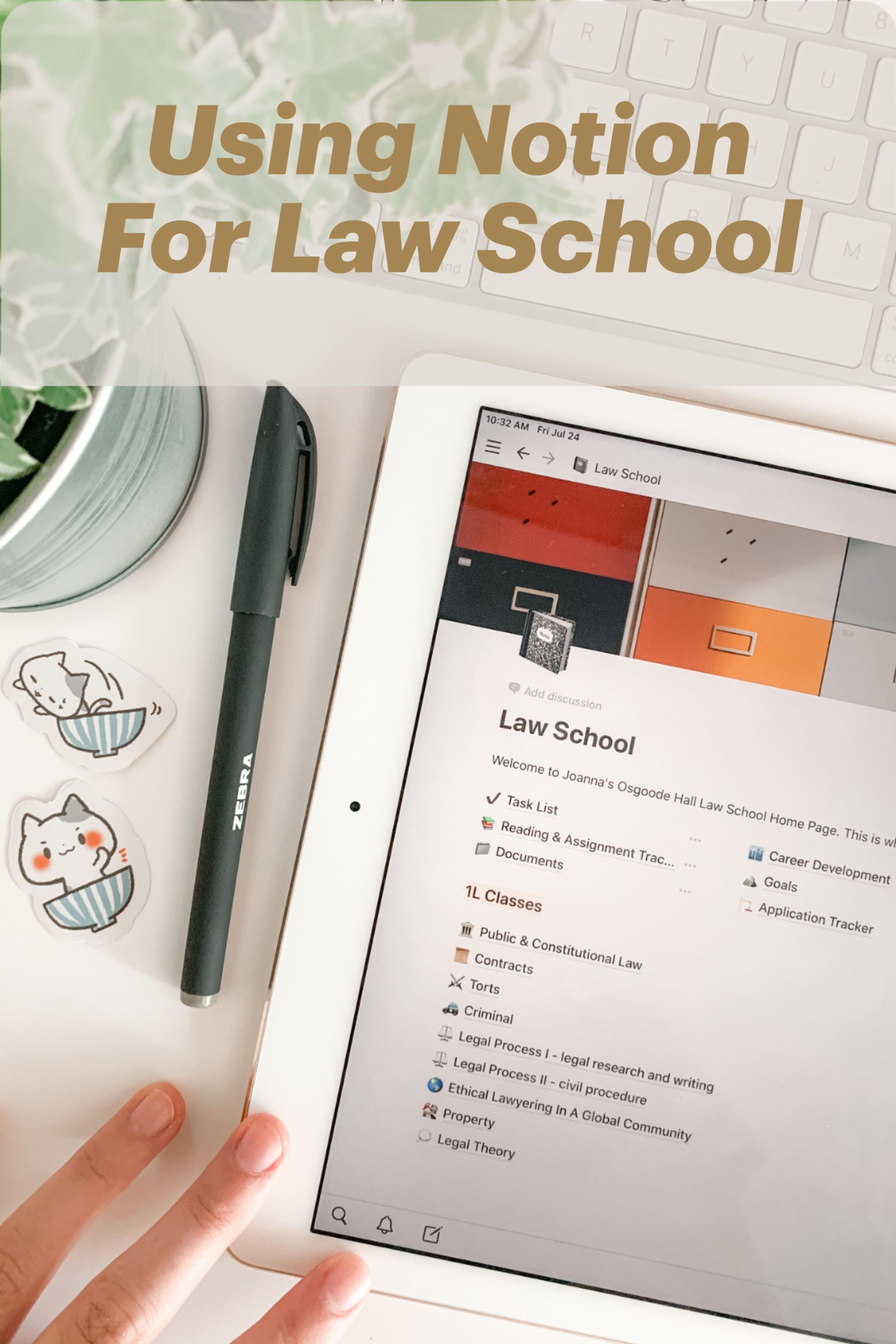 Using Notion For Law School In 2021 Law School School Organization Notions