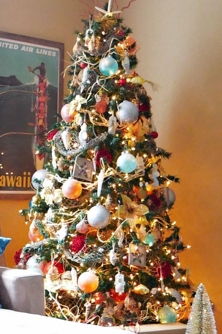 Tropical Ocean Christmas Tree - Day 2 Christmas Tree Blog Hop | Tropical christmas, Holiday ...