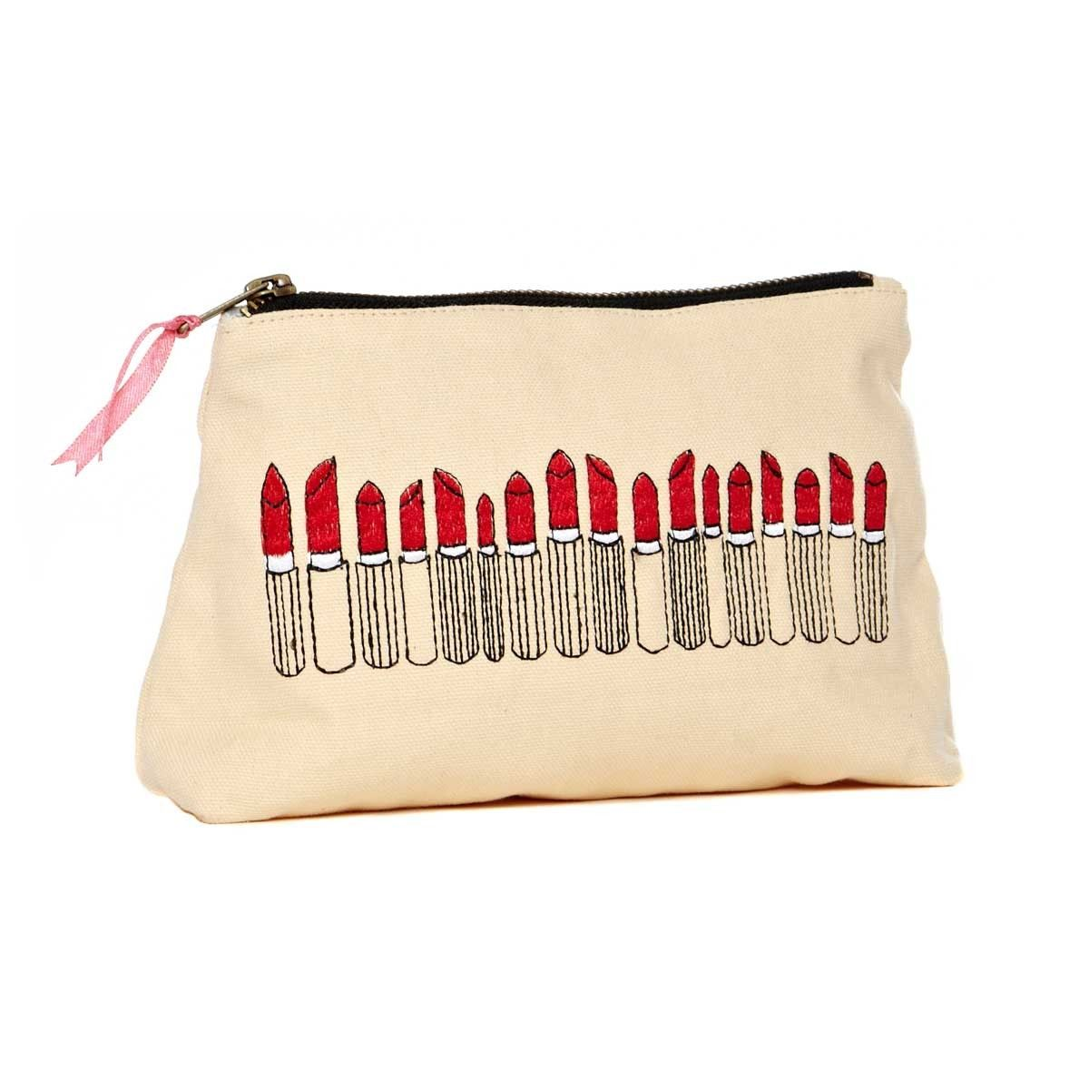 Sewlomax lipstick pouch in white | Nerd Attire & Accessories | Pinterest