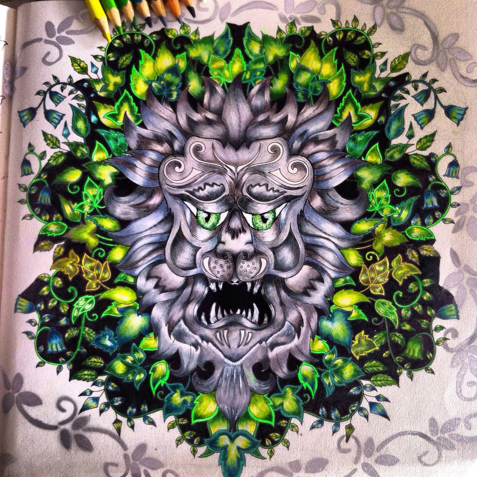 LEÃO FLORESTA ENCANTADA Enchanted forest coloring book