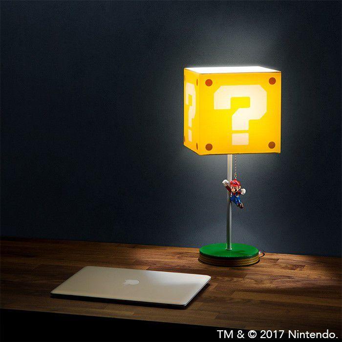 Super Mario Question Block Lamp Geek Stuff Super Mario Room