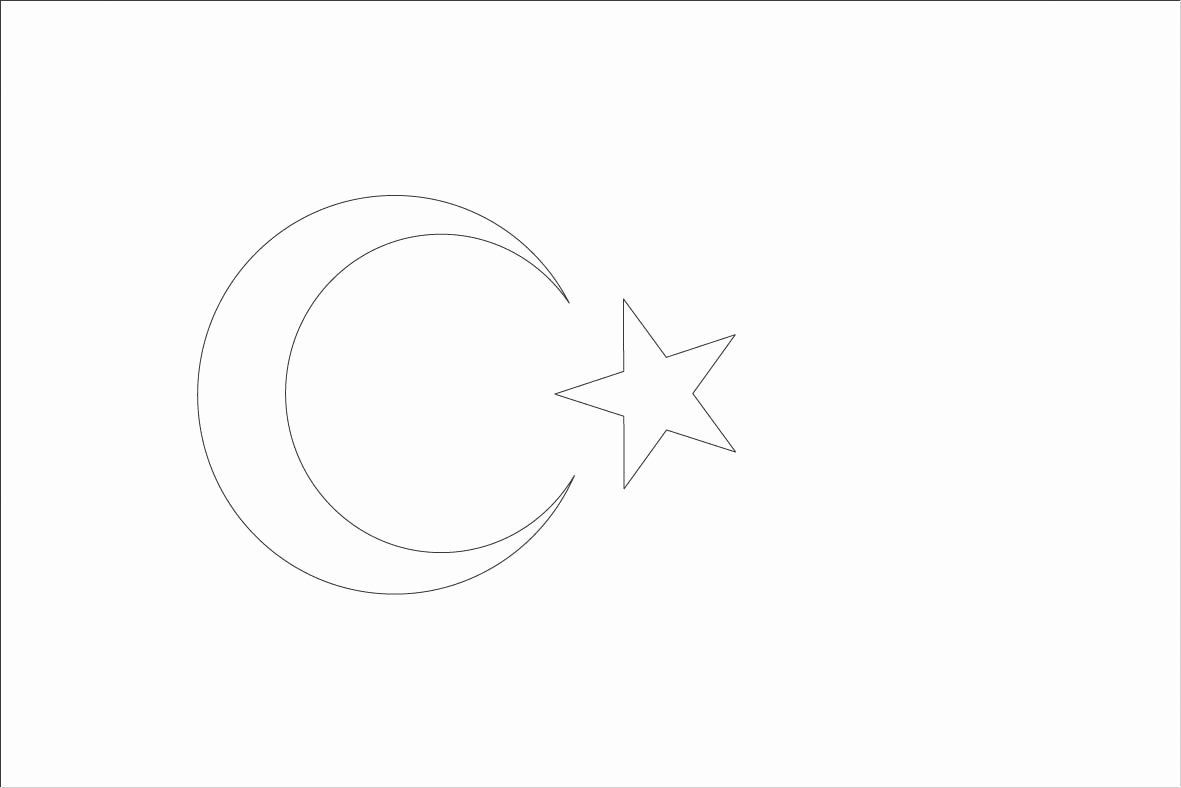Turkish Flag Coloring Page New World Flags Coloring Sheets 7