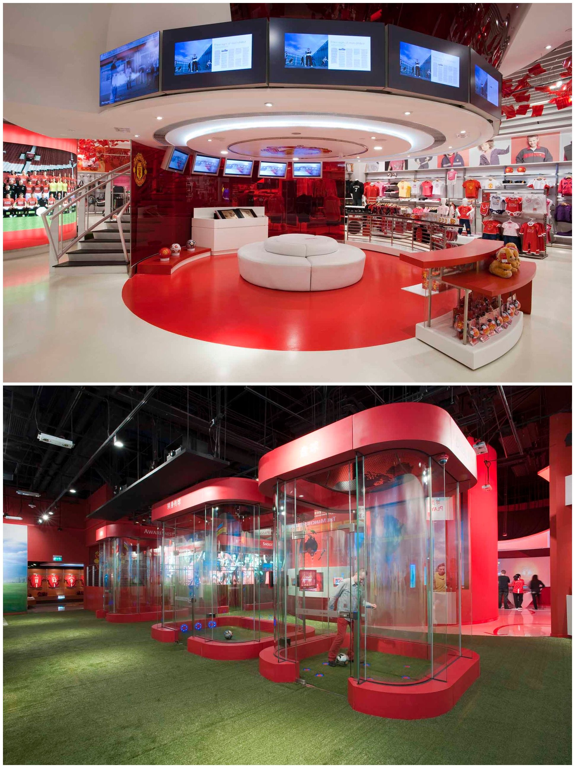 Official Manchester United Online Megastore Interior Retail Store Design Store Architecture Retail Store Design Champions Of The World