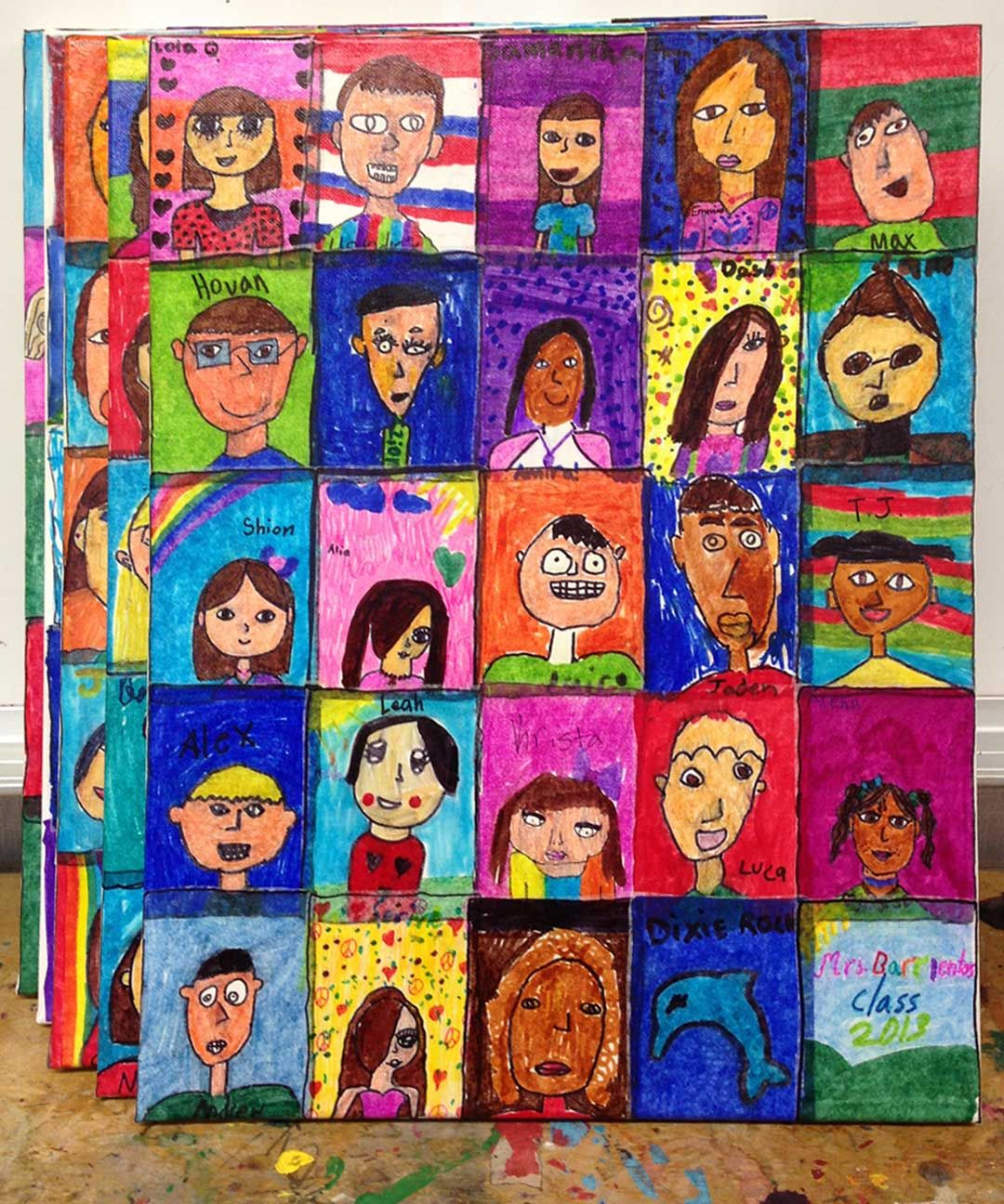 Art projects for kids silent auction canvas art great for Art and craft classes for kids