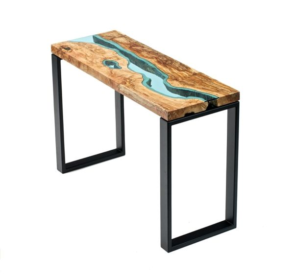 Amazing Handcrafted Tables With Rivers 'Flowing' Through Them - DesignTAXI.com