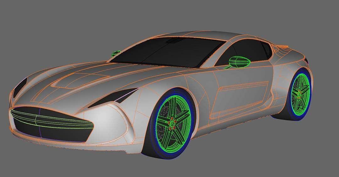 Great Sport car project, 3D model alias Featuring