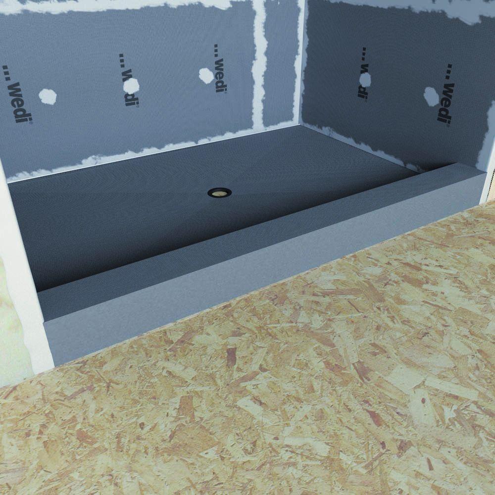 wedi Fundo Primo 48 in. x 72 in. Shower Kit | Pinterest | Shower kits