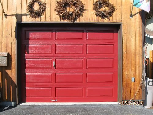 I Need To Repaint The Garage Door Now To Match The Front Door Red