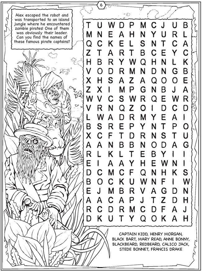 Halloween Coloring Page Word Search Halloween Coloring Pages Dover Publications Coloring Pages