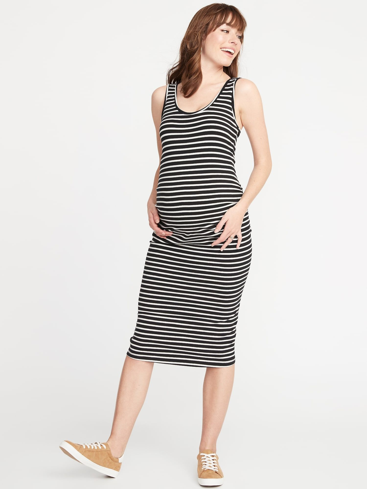 Motherhood Maternity Womens Maternity Sleeveless Rib Bodycon Tank Dress