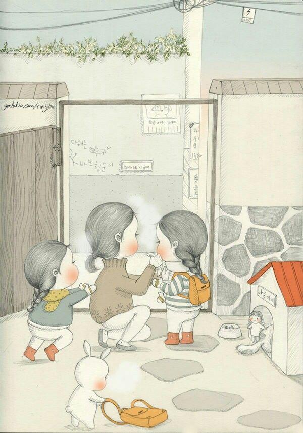 Korean Illustration Art Drawing Sketches Coloring Books Kawaii Bunny Posters Vintage Rabbit