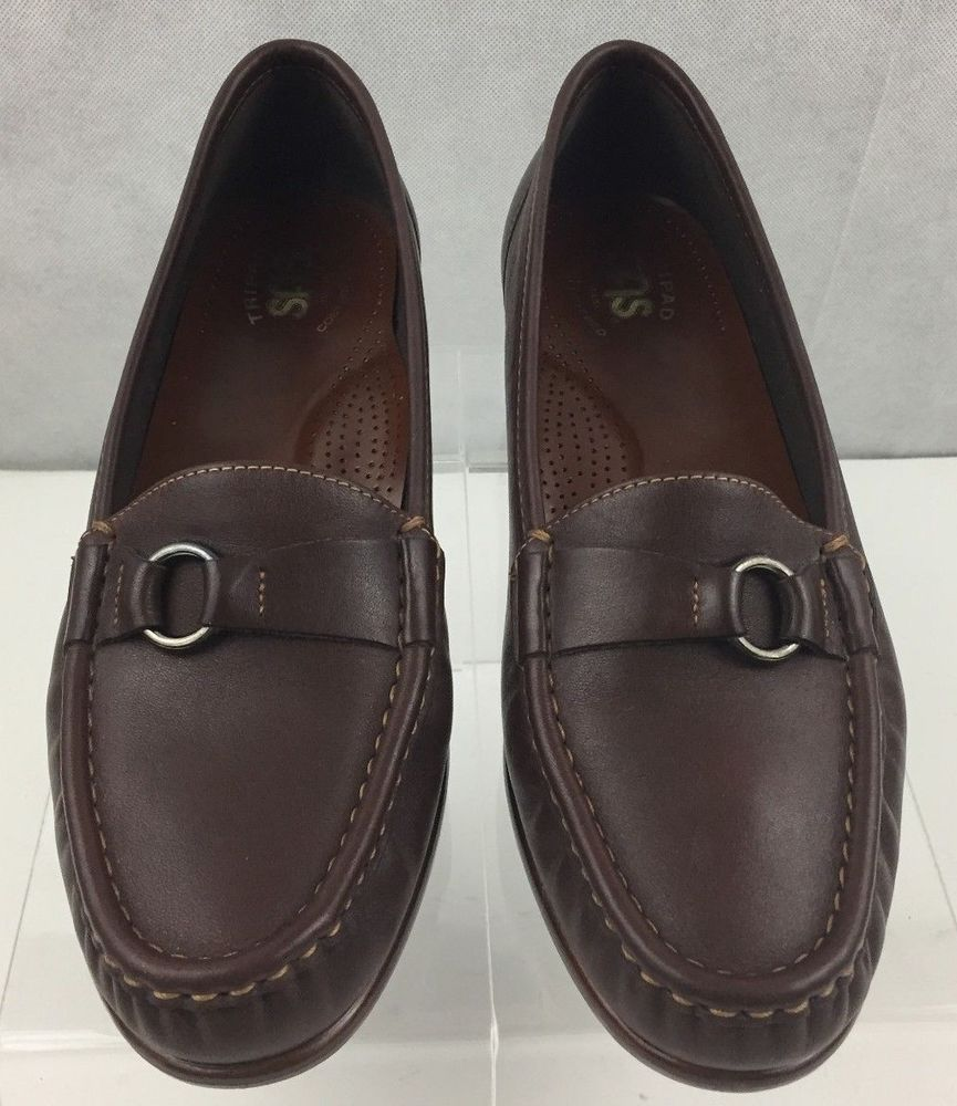 4928e563715 SAS Womens Moccasin Loafers Tripad Comfort Foot Bed Leather Brown 9.5M  SAS   Moccasins  Casual