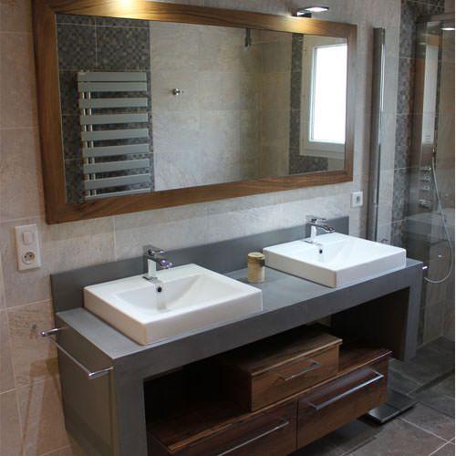 Sedna en 2019 am nagmenent et meuble de salle de bains en b ton cir meuble salle de bain - Meuble en beton cire ...