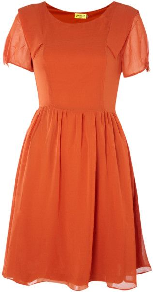 Love this: Short Button Sleeve Dress @Lyst