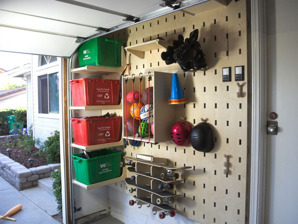 bin shelf slot wall accessory wall accessories on new garage organization ideas on a budget a little imagination id=38386