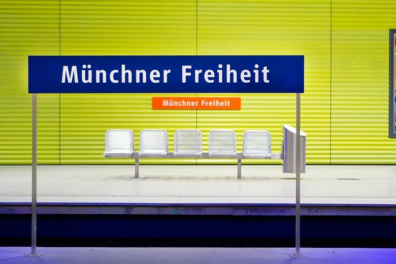 UBahn haltestelle Münchner Freiheit, München wallpaper