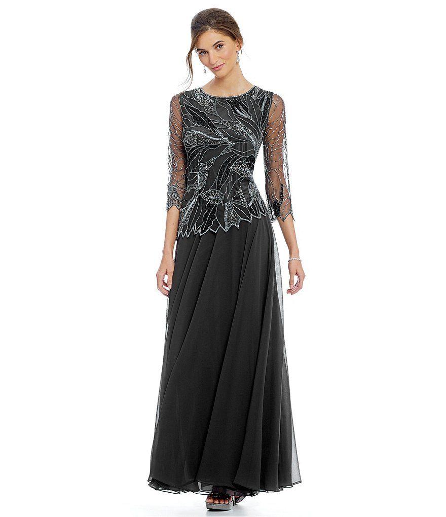 Jkara beaded mock piece gown mother of bride dresses pinterest
