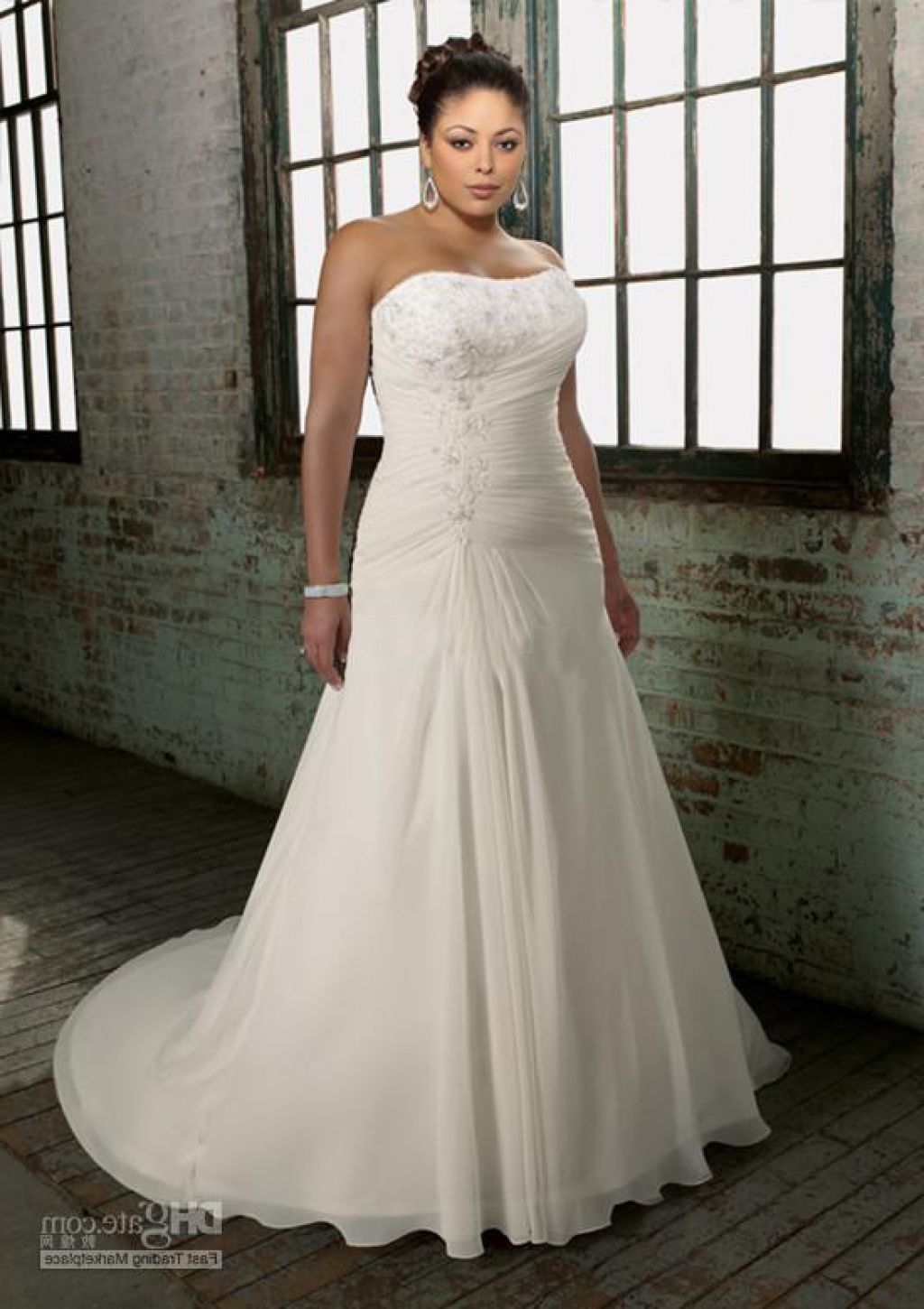 c0507fe966e plus size fit and flare wedding dresses with sleeves - Google Search ...