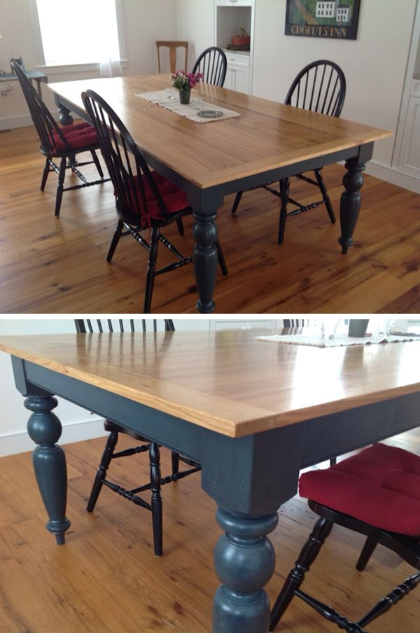 Large French Farm Dining Table Leg 4 5 X 29 Dining Table Makeover Refurbished Kitchen Tables Farm Dining Table