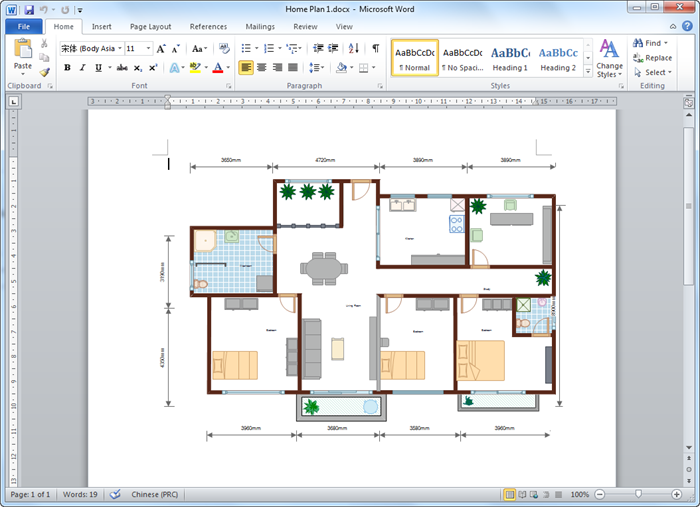 Floor Plan In Microsoft Word
