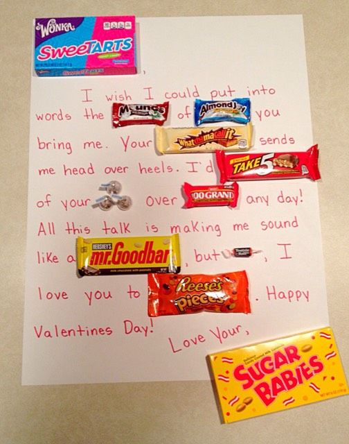 Valentine S Day Candy Card Simple Sweet The Ultimate