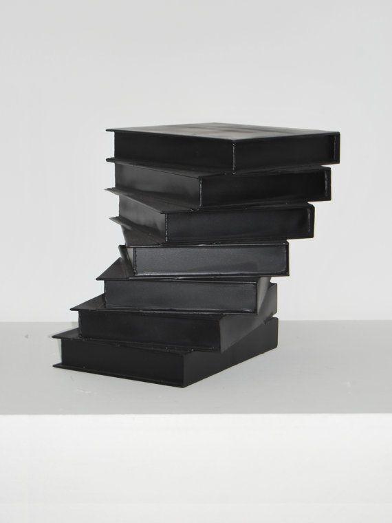 Associative Abstract Sculpture 'Off the Shelves' | Minimal Sculpture | Metal Art | Iron Sculpture | 3-D Art Decor | Geometric Art | Book Art