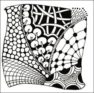 Zentangle Patterns for Beginners   classic zentangle is drawn on a ...