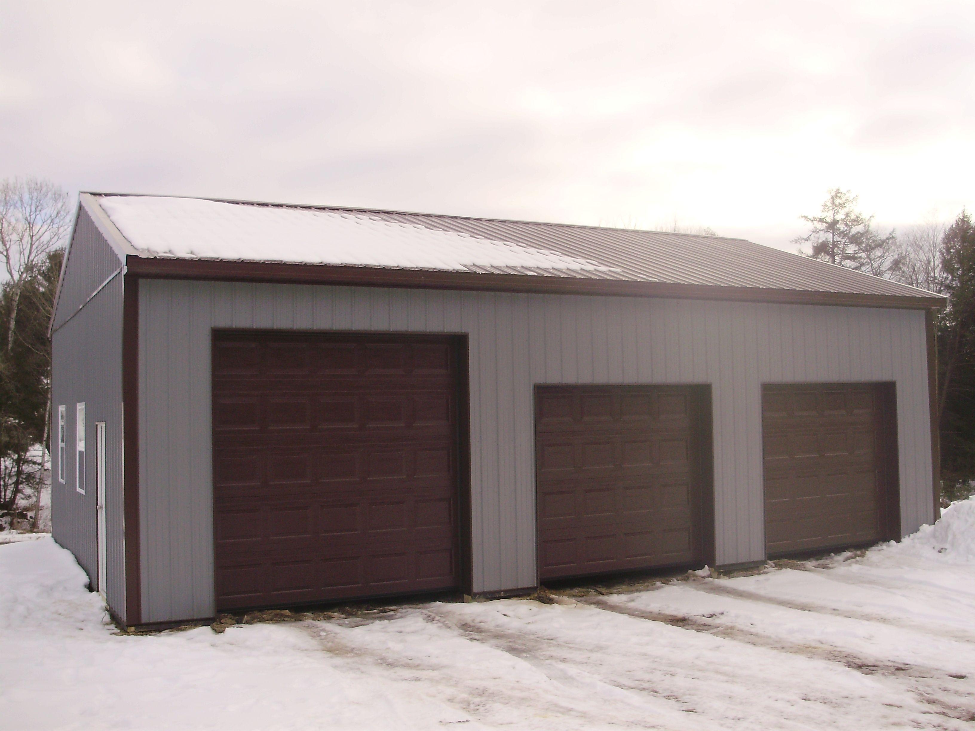 Building Dimensions 30 W X 40 L X 12 4 H Id 312 Visit Http Pioneerpolebuildings Com Portfolio Proj Garage House Plans Garage Design Metal Buildings