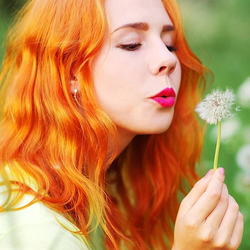 Spring Makeup People with red hair, How to wear makeup
