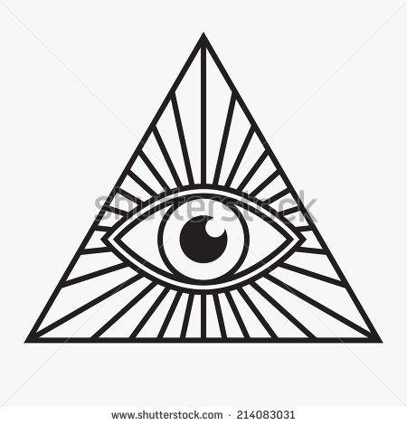 All Seeing Eye Symbol Vector Illustration Stock Vector T Shirts