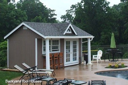 Pool house sheds amish storage sheds wood sheds vinyl for Shed into pool house