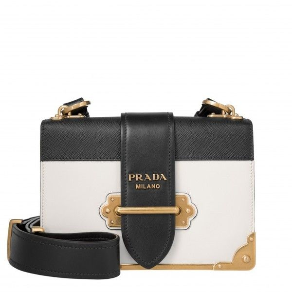 40a1ccab3c Prada Shoulder Bag - Cahier Crossbody Bag City Calf + Saffiano Talco ...