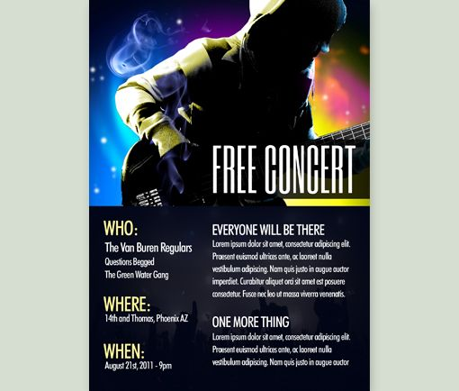how to make a concert flyer